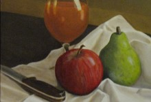 "Fruit and Juice - oil on canvas, 11"" x 14"""